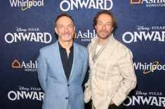 HOLLYWOOD, CALIFORNIA - FEBRUARY 18: (L-R) Composers Mychael Danna and Jeff Danna attend the world premiere of Disney and Pixar's ONWARD at the El Capitan Theatre on February 18, 2020 in Hollywood, California. (Photo by Jesse Grant/Getty Images for Disney)
