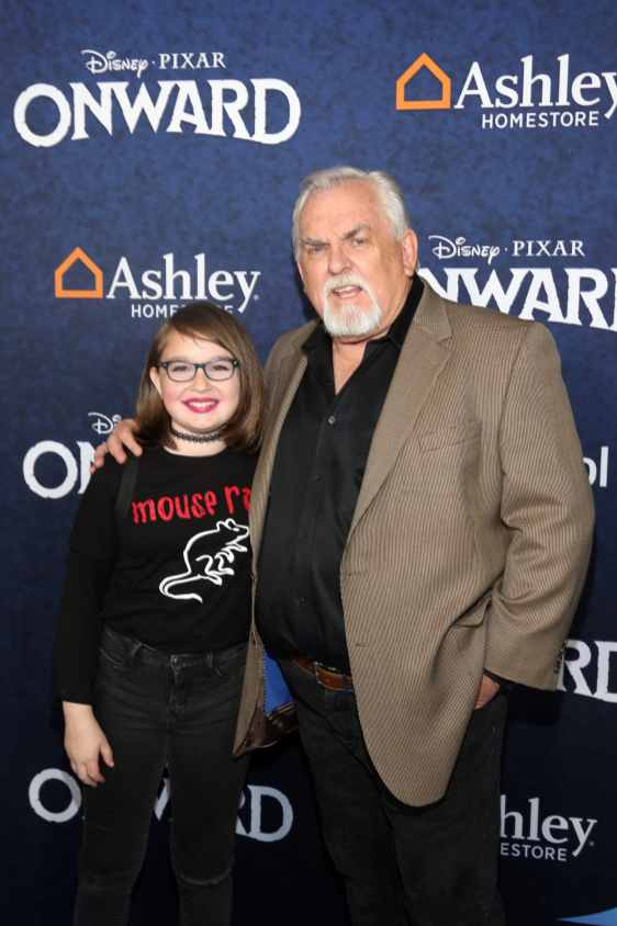 HOLLYWOOD, CALIFORNIA - FEBRUARY 18: John Ratzenberger (R) attends the world premiere of Disney and Pixar's ONWARD at the El Capitan Theatre on February 18, 2020 in Hollywood, California. (Photo by Jesse Grant/Getty Images for Disney)