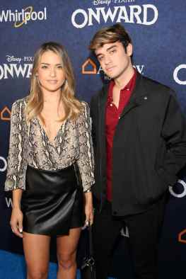 HOLLYWOOD, CALIFORNIA - FEBRUARY 18: (L-R) Vale Genta and Sebastian Genta attends the world premiere of Disney and Pixar's ONWARD at the El Capitan Theatre on February 18, 2020 in Hollywood, California. (Photo by Jesse Grant/Getty Images for Disney)