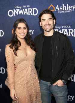 HOLLYWOOD, CALIFORNIA - FEBRUARY 18: (L-R) Ashley Iaconetti and Jared Haibon attend the world premiere of Disney and Pixar's ONWARD at the El Capitan Theatre on February 18, 2020 in Hollywood, California. (Photo by Jesse Grant/Getty Images for Disney)