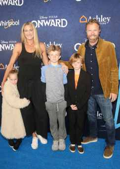 HOLLYWOOD, CALIFORNIA - FEBRUARY 18: (L-R) Scout Margery Jennings, Kerri Walsh Jennings, Joseph Michael Jennings, Sundance Thomas Jennings, and Casey Jennings attend the world premiere of Disney and Pixar's ONWARD at the El Capitan Theatre on February 18, 2020 in Hollywood, California. (Photo by Jesse Grant/Getty Images for Disney)