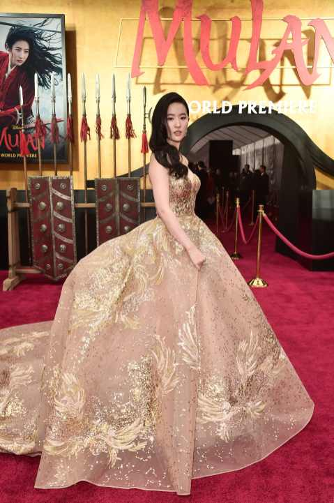 HOLLYWOOD, CALIFORNIA - MARCH 09: Yifei Liu attends the World Premiere of Disney's 'MULAN' at the Dolby Theatre on March 09, 2020 in Hollywood, California. (Photo by Alberto E. Rodriguez/Getty Images for Disney)