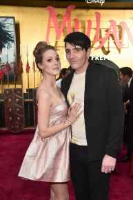 HOLLYWOOD, CALIFORNIA - MARCH 09: Evelyn Leigh and David Dastmalchian attend the World Premiere of Disney's 'MULAN' at the Dolby Theatre on March 09, 2020 in Hollywood, California. (Photo by Alberto E. Rodriguez/Getty Images for Disney)