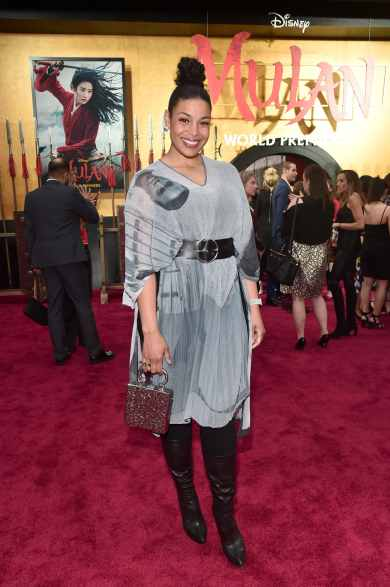 HOLLYWOOD, CALIFORNIA - MARCH 09: Jordin Sparks attends the World Premiere of Disney's 'MULAN' at the Dolby Theatre on March 09, 2020 in Hollywood, California. (Photo by Alberto E. Rodriguez/Getty Images for Disney)