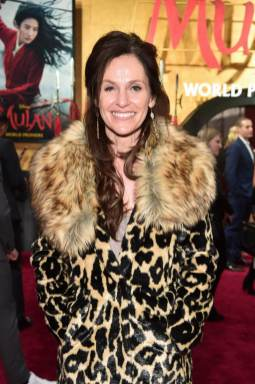 HOLLYWOOD, CALIFORNIA - MARCH 09: Amy Brenneman attends the World Premiere of Disney's 'MULAN' at the Dolby Theatre on March 09, 2020 in Hollywood, California. (Photo by Alberto E. Rodriguez/Getty Images for Disney)