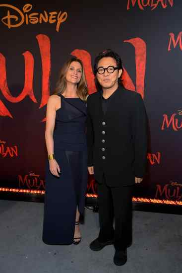 HOLLYWOOD, CALIFORNIA - MARCH 09: (L-R) Director Niki Caro and Jet Li attend the World Premiere of Disney's 'MULAN' at the Dolby Theatre on March 09, 2020 in Hollywood, California. (Photo by Charley Gallay/Getty Images for Disney)