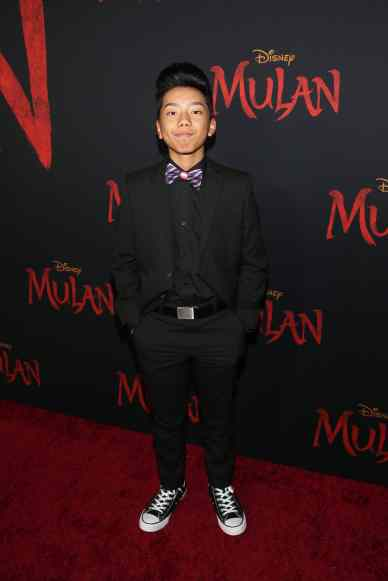 HOLLYWOOD, CALIFORNIA - MARCH 09: Aidan Prince attends the World Premiere of Disney's 'MULAN' at the Dolby Theatre on March 09, 2020 in Hollywood, California. (Photo by Jesse Grant/Getty Images for Disney)