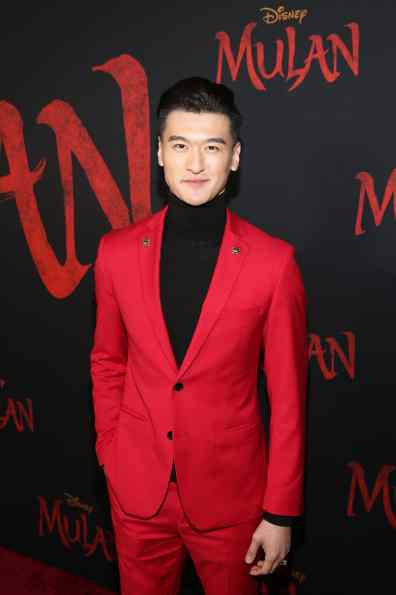 HOLLYWOOD, CALIFORNIA - MARCH 09: Chen Tang attends the World Premiere of Disney's 'MULAN' at the Dolby Theatre on March 09, 2020 in Hollywood, California. (Photo by Jesse Grant/Getty Images for Disney)