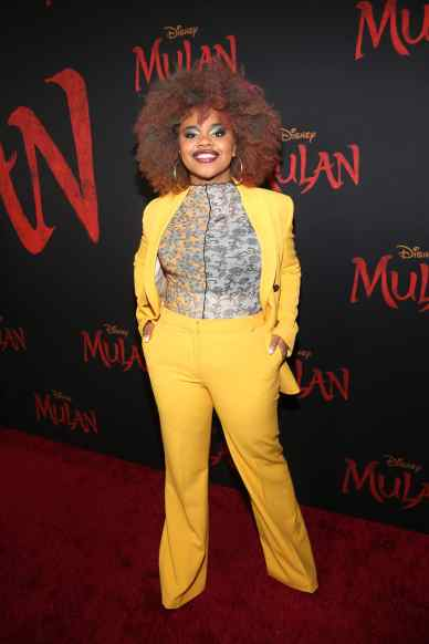 HOLLYWOOD, CALIFORNIA - MARCH 09: Dara Reneé attends the World Premiere of Disney's 'MULAN' at the Dolby Theatre on March 09, 2020 in Hollywood, California. (Photo by Jesse Grant/Getty Images for Disney)