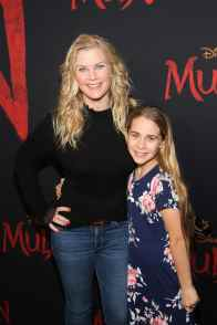 HOLLYWOOD, CALIFORNIA - MARCH 09: (L-R) Alison Sweeney and Megan Sanov attend the World Premiere of Disney's 'MULAN' at the Dolby Theatre on March 09, 2020 in Hollywood, California. (Photo by Jesse Grant/Getty Images for Disney)