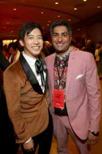 HOLLYWOOD, CALIFORNIA - MARCH 09: Jimmy Wong and Chum Ehelepola attend the World Premiere of Disney's 'MULAN' at the Dolby Theatre on March 09, 2020 in Hollywood, California. (Photo by Jesse Grant/Getty Images for Disney)
