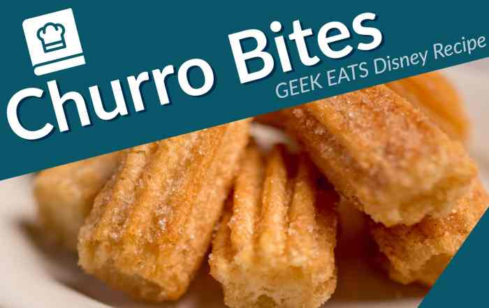 Churro Bites - GEEK EATS Disney Recipe