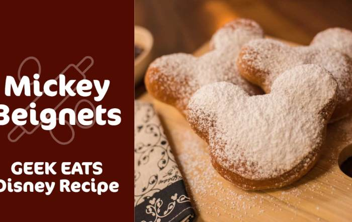 Mickey Beignets - GEEK EATS Disney Recipe