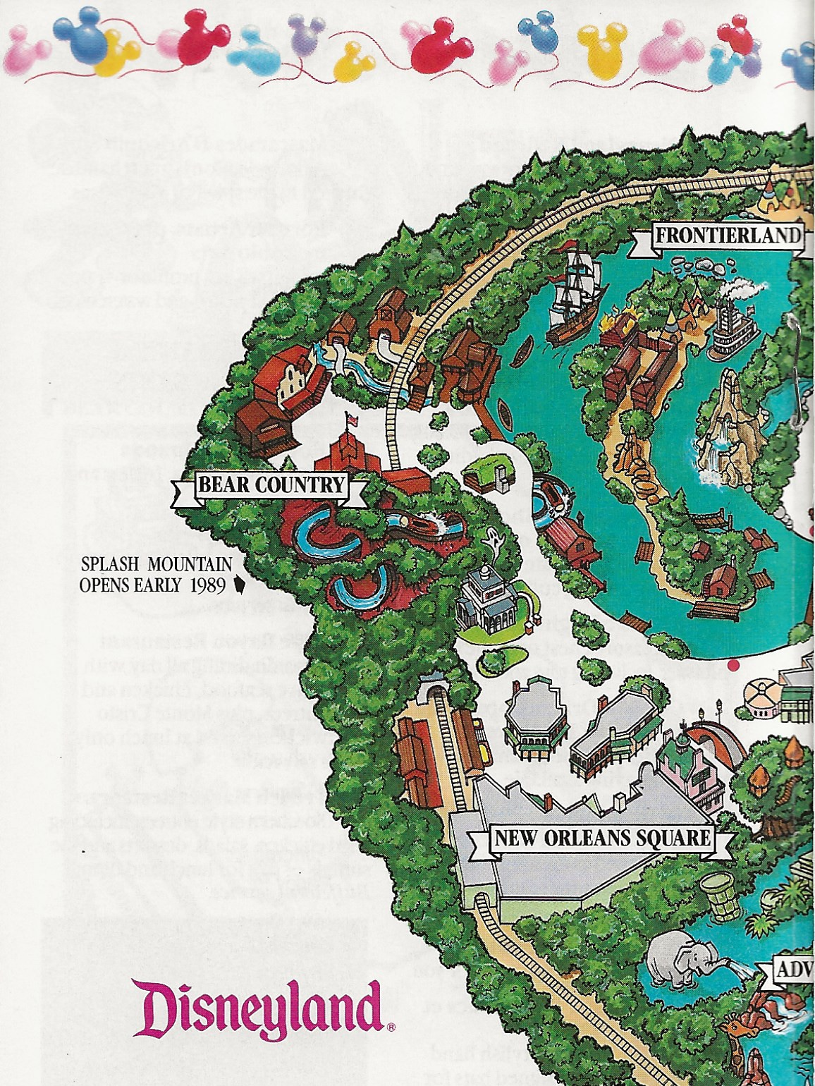 Interior detail of the 1988 Guide Map