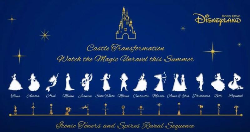 Castle of Magical Dreams Princesses - Hong Kong Disneyland