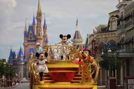 """Mickey Mouse will star in the """"Mickey and Friends Cavalcade"""" when Magic Kingdom Park reopens July 11, 2020, at Walt Disney World Resort in Lake Buena Vista, Fla. With traditional parades on temporary hiatus to support physical distancing during the park's phased reopening, Disney characters will pop up in new and different ways throughout the day. (Kent Phillips, photographer)"""