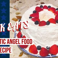 4th of July Patriotic Angel Food Cake - GEEK EATS Recipe