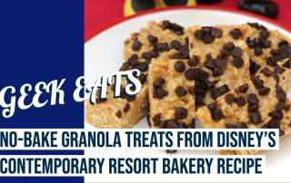 No-Bake Granola Treats from Disney's Contemporary Resort Bakery