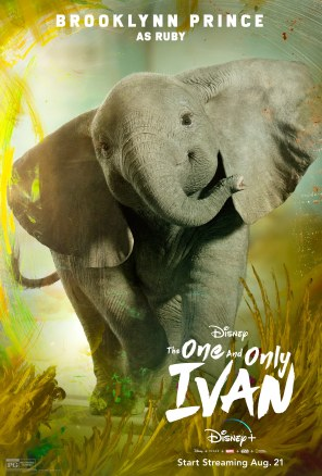 Ruby, voiced by Brooklynn Prince, in Disney's THE ONE AND ONLY IVAN