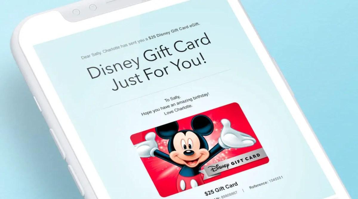 TaDa Mickey Disney Gift Card eGift