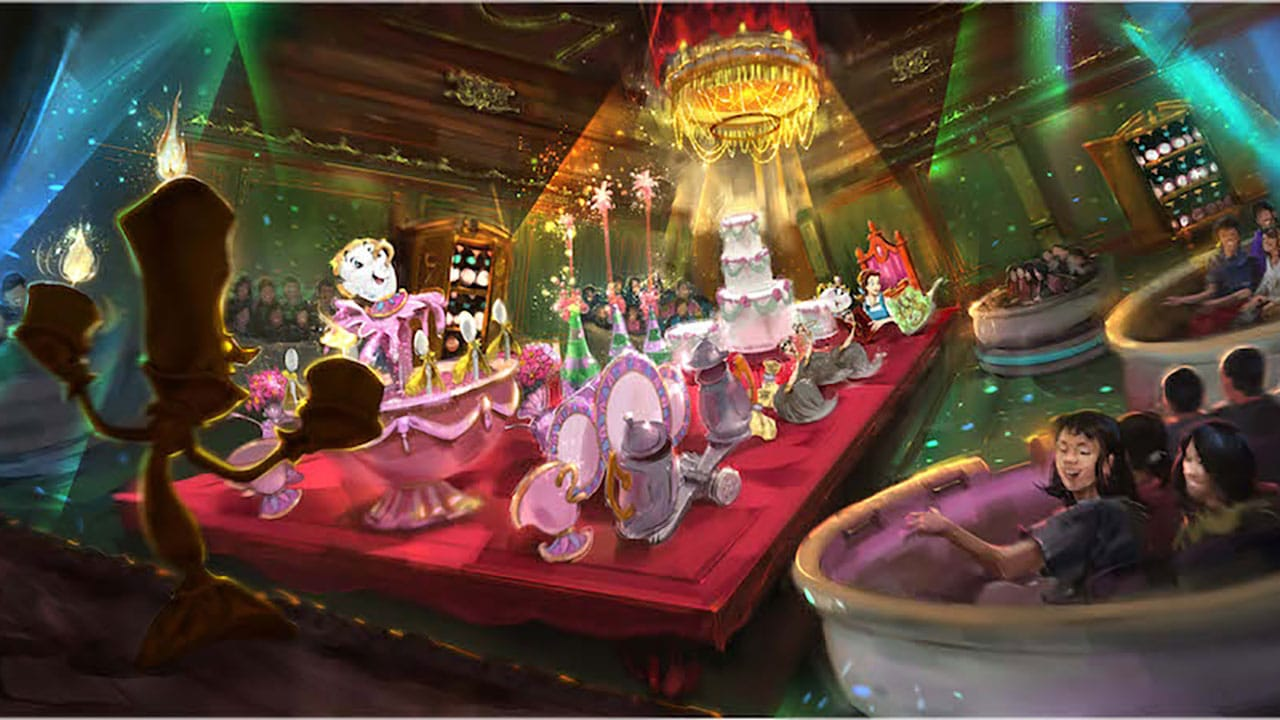 New Beauty and the Beast Attraction at Tokyo Disneyland Beautifully Recreates Animated Classic