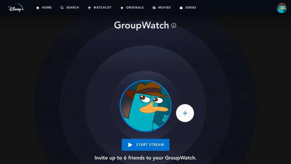 Disney+ GroupWatch Screenshot
