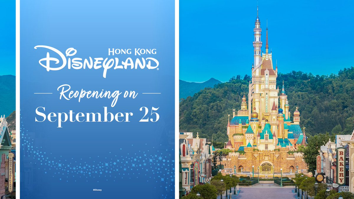 Hong Kong Disneyand Set to Reopen This Friday, September 25