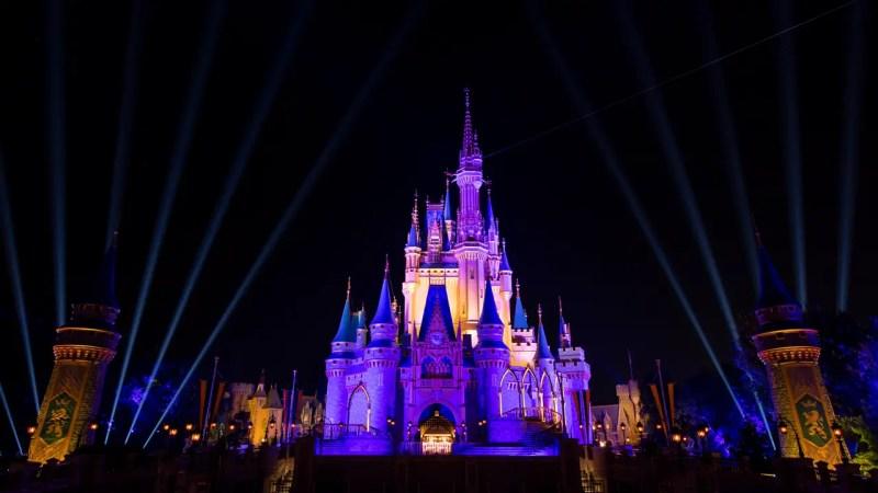 LA Lakers Colors on Cinderella Castle - Featured Image