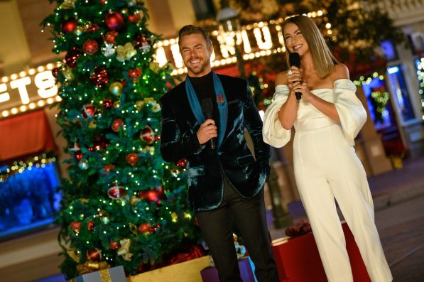 Derek and Julianne Hough host the 5th anniversary flashback special of 'The Wonderful World of Disney: Magical Holiday Celebration,' airing NOV. 26 (9:00-11:00 p.m. ET/PT) on ABC. Festive performances from years past include Kristen Bell and Idina Menzel, Kelly Clarkson, Jason Derulo, Ciara, Andrea Bocelli, OneRepublic, Pentatonix, Becky G, Shaggy, Boyz II Men and JoJo, Meghan Trainor and Brett Eldridge, and Aloe Blacc. (Richard Harbaugh, photographer)