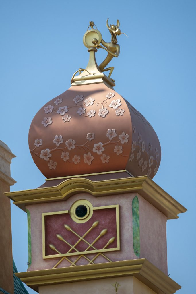 Mushu on the Castle of Magical Dreams at Hong Kong Disneyland