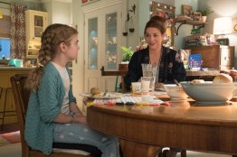 Matilda Lawler as Flora and Alyson Hannigan as Phyllis in FLORA & ULYSSES, exclusively on Disney+. Photo by Jake Giles Netter. © 2020 Disney Enterprises, Inc. All Rights Reserved.