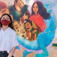 Disneyland Resort Unveils New Artwork Inspired by Disney's Raya and the Last Dragon by Imagineer Xiao Qing Chen