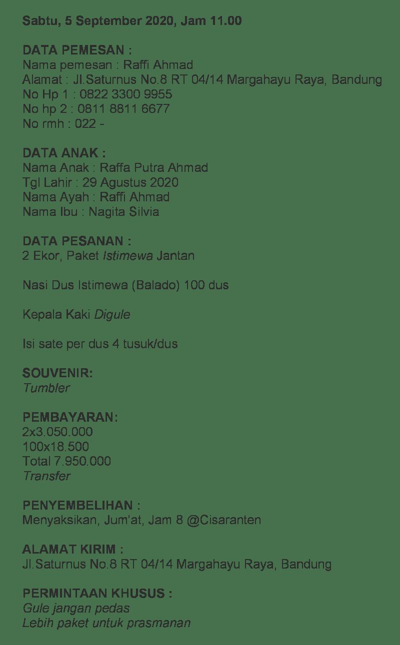 harga paket aqiqah bandung murah dapur aqiqah 0