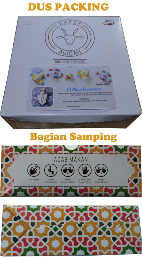 paket aqiqah bandung murah dapur aqiqah box nasi dus