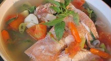 Resep Ikan Kakap Merah Kuah Asam