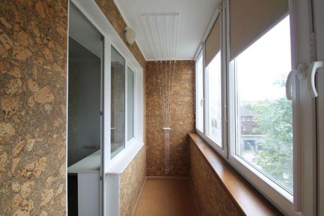 Пробковые панели во внутренней отделке балконов и лоджий