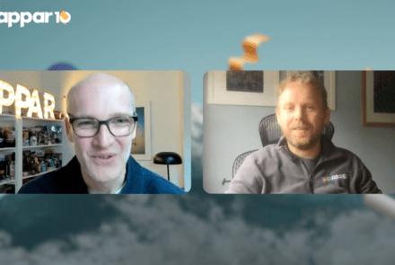 AR Pioneers Fireside Chat between Darabase's Dominic Collins and Zappar's Caspar Thykier