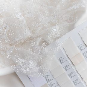 Dara Ford Bridal, bridal lace, ivory swatches, ivory lace