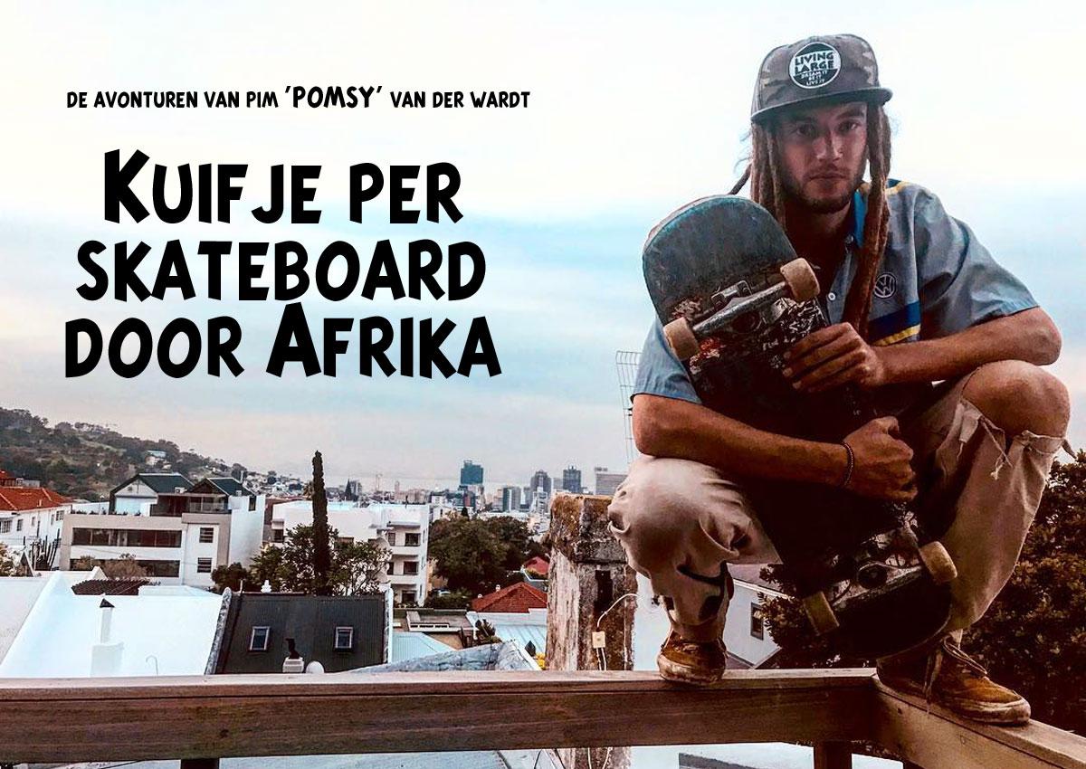 Kuifje Per Skateboard Door Afrika