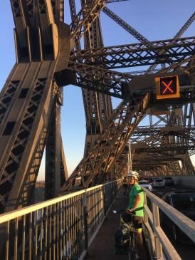 John Molson on majorly narrow bridge!