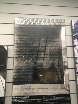 Shadow burned onto wall