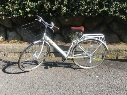 Kosugi loaned me his bike!
