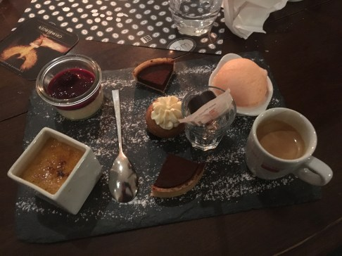 A panoply of desserts