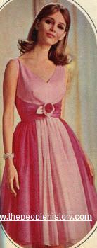 two tone chiffon dress