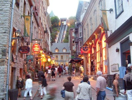 Funicular in Quebec city