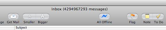 so much for inbox zero…