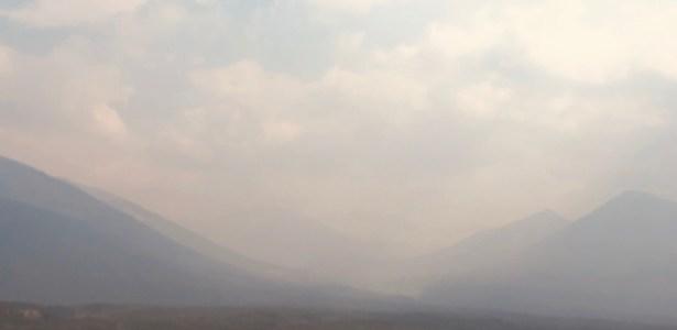 Highwood pass through smoke