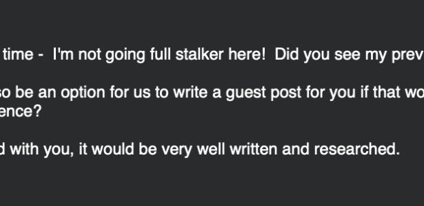 No guest posts