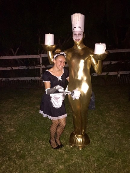 lumiere and feather duster couples costume-Darcy Oliver Design