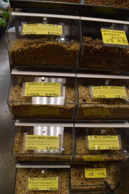 I would like this granola section so much better if the labels weren't in Comic Sans...